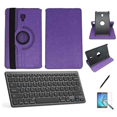 "Kit Capa/Teclado/Can/Pel Galaxy Tab A T580/T585 10.1"" Roxo"