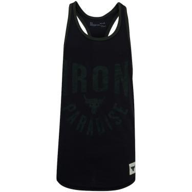 Camiseta Regata Under Armour Project Rock Iron - Masculina Under Armour Masculino