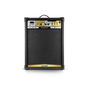 Caixa Amplificada Multiuso Frahm MF600 APP 500w RMS Bluetooth, USB, SD Card e FM