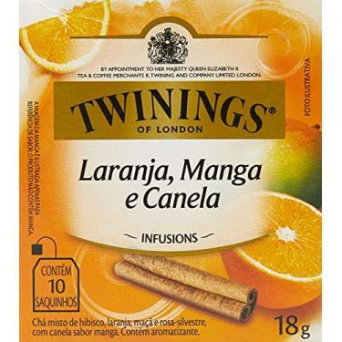 Chá Misto de Laranja, Manga e Canela Twinings com 10 Saquinhos