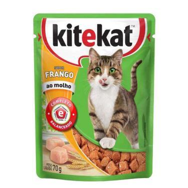 Ração Kitekat Sachê Frango para Gatos Adultos - 70 g