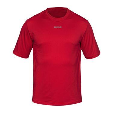 Camiseta Active Fresh Mc - Masculino Curtlo P Vermelho