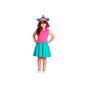 Imagem de Fantasia Infantil Furby Verde e Rosa - Sulamericana