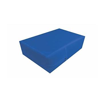 Imagem de Capa Para Colchão Solteiro Azul Royal tipo Hospitalar Impermeável Com Ziper