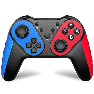 Controlador sem fio, controlador de Bluetooth para Nintendo Switch Pro, joystick remoto para console Nintend Switch e controle de jogo com NFC