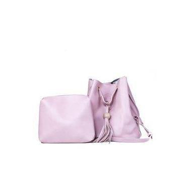 Bolsa bucket feminina jovem rosa bebê 98ab67b21dc