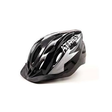Capacete para Ciclismo Bike Átrio Mtb 2.0 com Viseira Preto e Branco Tamanho M - BI158