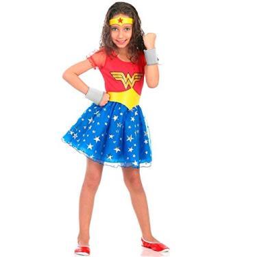 Imagem de Fantasia Mulher Maravilha Princesa Infantil Luxo P 2-4