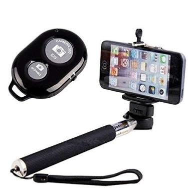 Bastão Monopod Pau de Selfie Com Controle Bluetooth