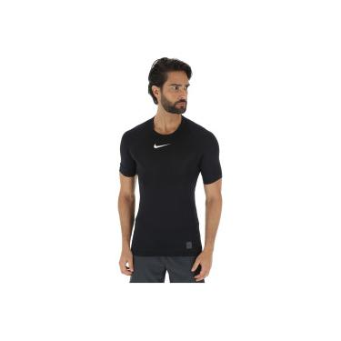 e2df7bd2a2 Camisa de Compressão Nike Pro Top SS - Masculina - PRETO BRANCO Nike