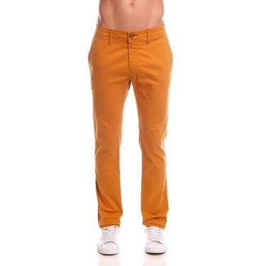 Coca-Cola Jeans, Calça Sarja Super Skinny, Masculino, Amarelo Legrand, 40