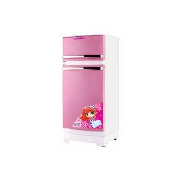 Imagem de Geladeira de Brinquedo Infantil Rosa e Branca c/ Acessórios