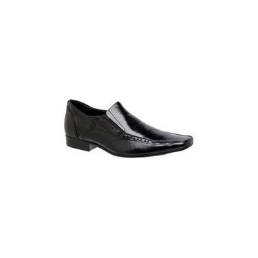 Sapato Social Youth Couro Itália/Úmbria Preto 760420 Tamanho De Calçado Adulto:3
