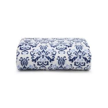 Imagem de Manta Microfibra Flannel Printed Santista - King - Azul