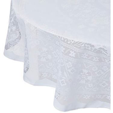Imagem de Toalha de Crochê Lepper Persia Branco 1.8 m Pacote de 1 Poliéster