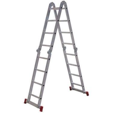 Imagem de Escada Articulada 4x4 com 16 Degraus de Alumínio - BOTAFOGO-ESC0293 -
