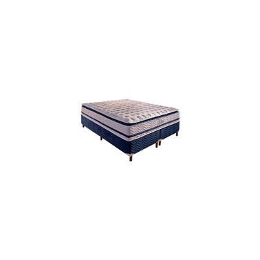 Imagem de Base Box Bipartida com Colchão Paropas de Molas Pocket Blue com Pillow Top Super King Size 74x203x193