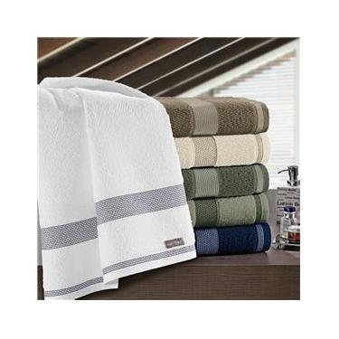 Imagem de Toalha de rosto felpuda linha Siena cor branca 100% algodão 50x80 - Buettner