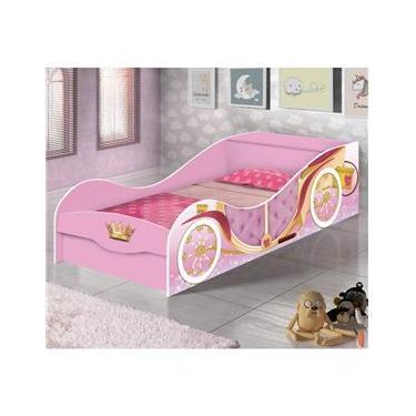 a4ac9bfa38 Mini Cama Infantil Carruagem Moranguinho J A Móveis Rosa