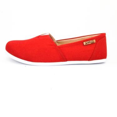 Alpargata Quality Shoes 001 Vermelho  feminino