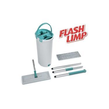 Mop Lava e Seca Fit Flashlimp Esfregão Balde Flat Vertical - Flash Limp