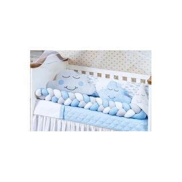 Imagem de Trança Protetor Lateral Para Berço Avulsa Menino Azul Grande
