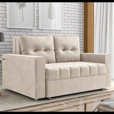 Sofa Cama Drika Matrix - Suede Pena Bege
