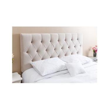 Cabeceira Casal Paris para cama box 140cm suede - kasabela