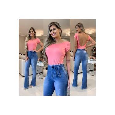 Calça Jeans Roupas Femininas Clochard Flare Fashion