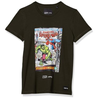 Camiseta Estampa Marvel Colcci Fun, Meninos, Verde Gaffa, 16