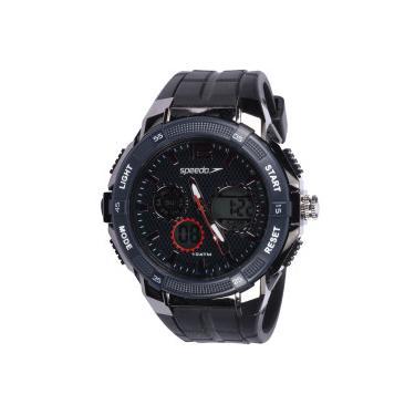 69e74d5a100 Relógio Digital Analógico Speedo 81163G0 - Masculino - PRETO Speedo