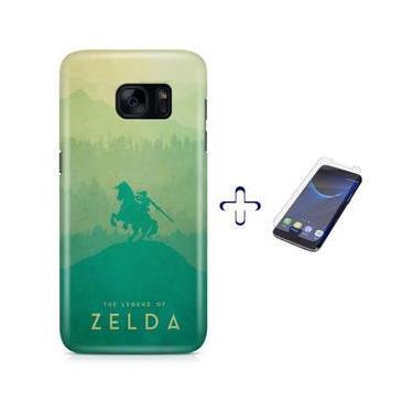 Kit Capa Case TPU Galaxy S7 The Legend Of Zelda – Breath of The Wild + Pel Vidro (BD30)
