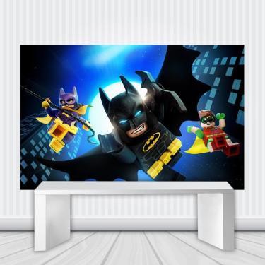 Painel De Festa Infantil Batman Lego B 3.00M X 1.70M