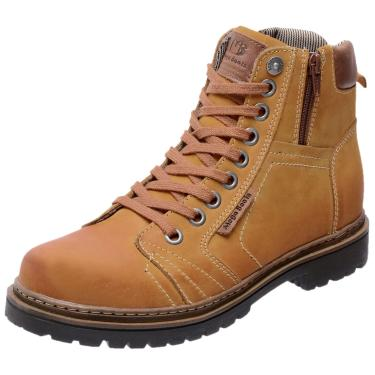 Bota Coturno em Couro Mega Boots 6016 Amarelo  masculino