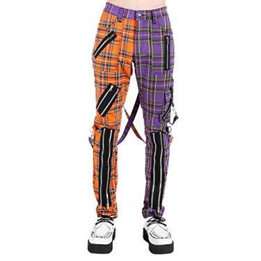 Calça Tripp Madness [xadrez laranja/violeta], Orange/Violet Pants, 34