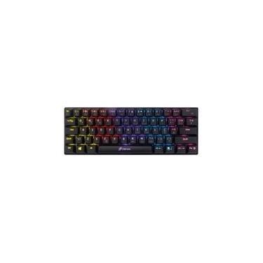 Teclado Gamer Mecânico OEX Game Ziggy 60%, Ultra Compacto, LED Rainbow, USB, Switch Outemu Red, ABNT, Anti-Ghosting, Preto - TC607