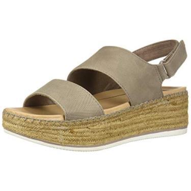 Sandália feminina Dr. Scholl's Shoes Cool Vibes Espadrille Wedge, Taupe Grey Altitude Print, 6.5