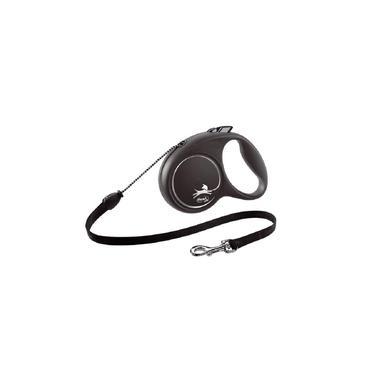 Guia Flexi Black Design Corda Pp 3M - Preta Para Cães