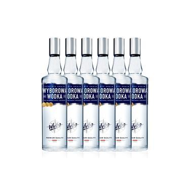 Kit Vodka Wyborowa 750ml - 6 Unidades