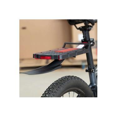 Bagageiro Para Bicicleta Suporta Até 9 Kg com Refletor e Paralamas Tsw