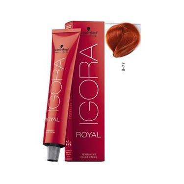 Schwarzkopf Igora Royal Coloração 8/77 Louro Claro Cobre Extra 60ml