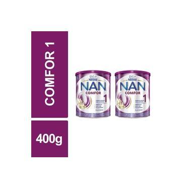 Fórmula Infantil NAN Comfor 1 Nestlé 400g Lata Kit 2un