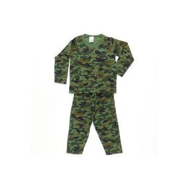 Pijama Moletom Camuflado Verde - Pepila