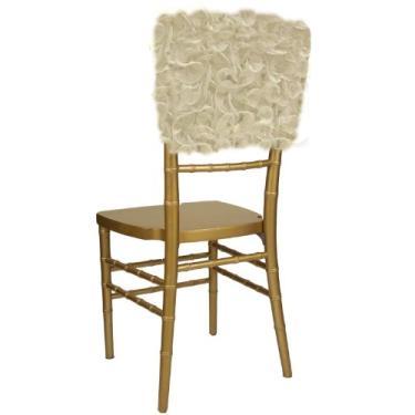 Boné de cadeira Wildflower Linen Isabella Chiavari, marfim
