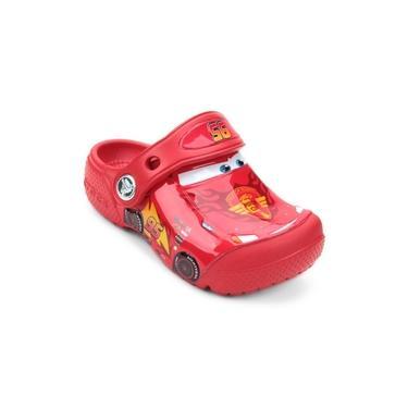 Crocs infantil Carros vermelho