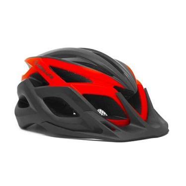 Imagem de Capacete Ciclismo Bike Absolute Wild Flash (Preto Vermelho G)