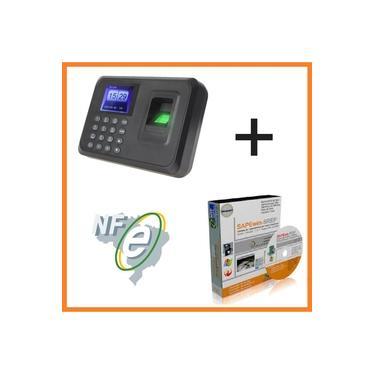 Relógio Ponto Biométrico Digital Português e Programa de ponto