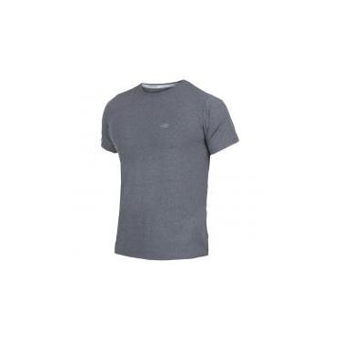 Camiseta Manga Curta Mescla Masculino UV Dry Flex CINZA - M Mormaii