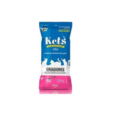 Kets White Areia Silica Natural para Gatos 20kg - Alfapet
