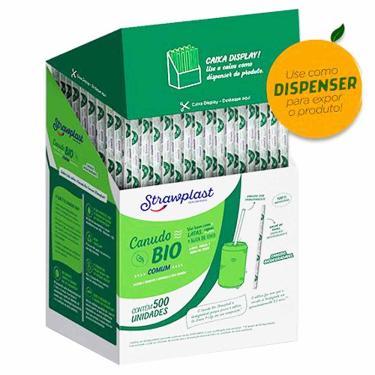 Canudo Biodegradável Comum Sachê Strawplast 500 Unidades 1030158